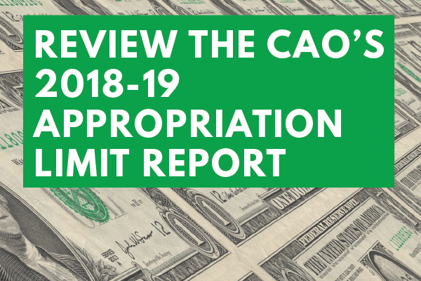 CAO-2018-19-Budget-Appropriations-Limit-Report
